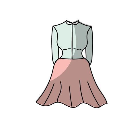 nice woman wear style design, vector illustration Illustration
