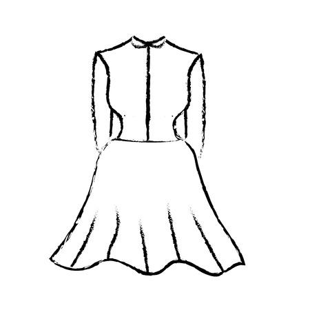 figure nice woman wear style design, vector illustration Illustration
