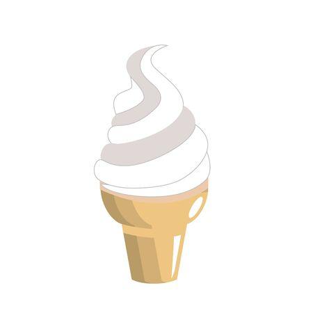 carretto gelati: Gustoso gelato nel cornetto, illustrazione vettoriale Vettoriali