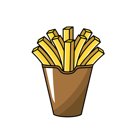 frites: delicious fries french fast food meal, vector illustration