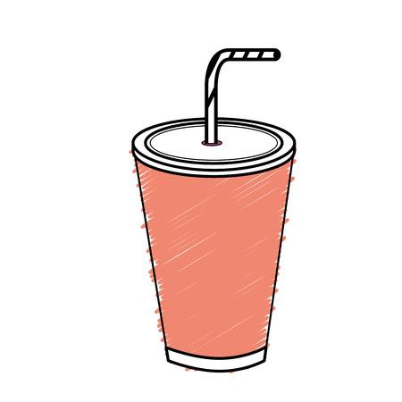 bebida sabrosa de la bebida de la soda, diseño de la ilustración del vector