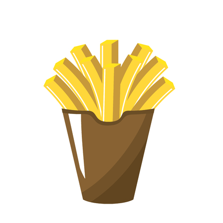delicious fries french fast food meal, vector illustration