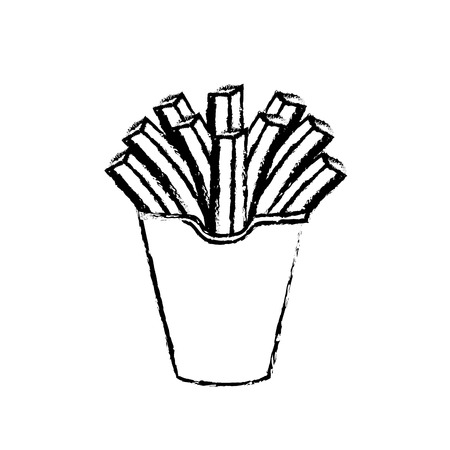 frites: figure delicious fries french fast food meal, vector illustration Illustration
