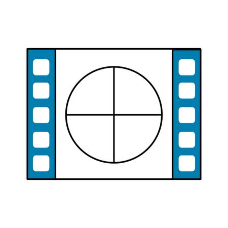 film aftellen naar projectie van film, vectorillustratie
