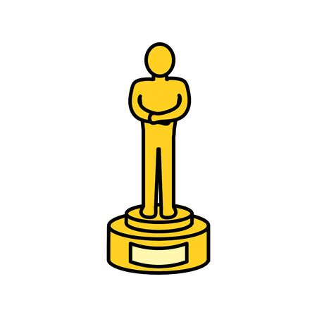 prize to cinematography producer film, vector illustration
