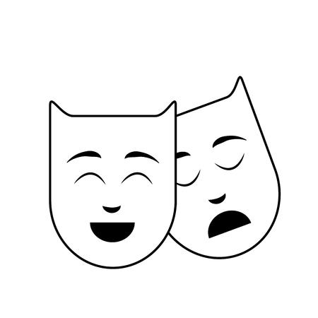 lijngenres aan films voor vermaak de mensen, vectorillustratie Stock Illustratie