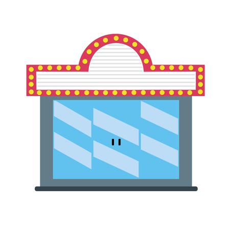 bioscoop om filmprojectie, vectorillustratie te bekijken