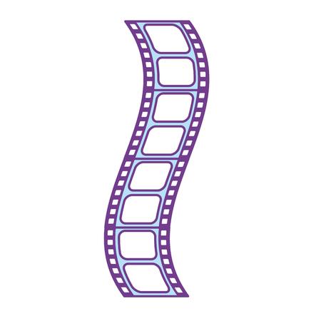 filmstrip to studio scene in projection, vector illustration Illustration