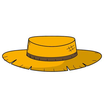 Netter pesant Hut, zum in der Bauernhofarbeit-Vektorillustration zu verwenden