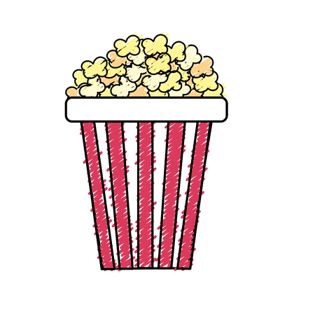 pop corn: delicious and salty popcorn to eat in the cinema, vector illustration Illustration
