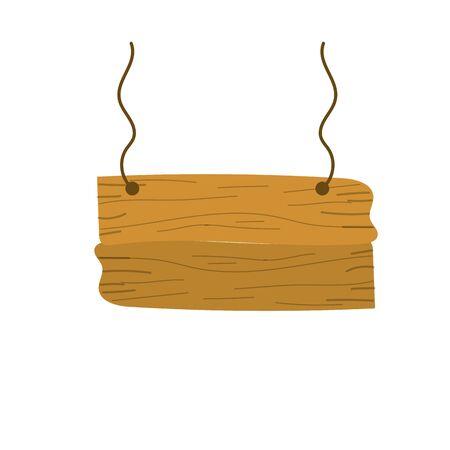 nice retangular wood emblem design Ilustração