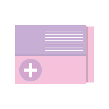 medicine box to pacient treatment and body care Illustration