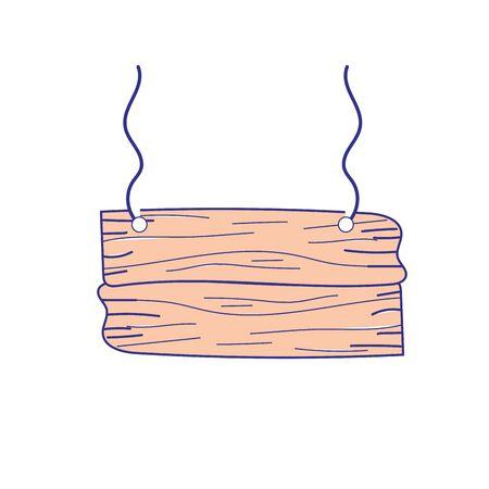 nice retangular wood emblem design vector illustration