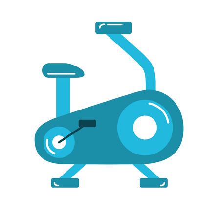 Bike machine to do exercise and healthy lifestyle vector illustration.