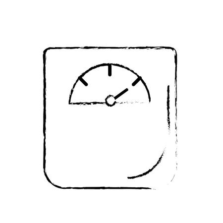 図重量機械器具のキログラムのベクトル図を測定します。
