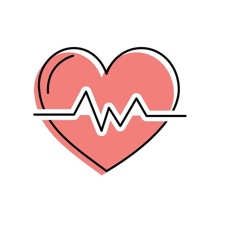 systole: heartbeat to know rhythm cardic and frequency vector illustration Illustration