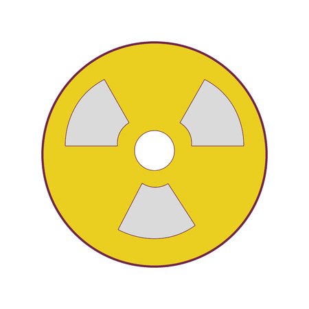 irradiation: Radiation symbol to dangerous and ecology contamination vector illustration