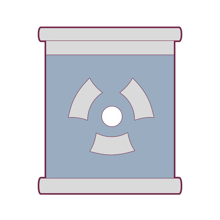 Poster with radiation symbol of danger
