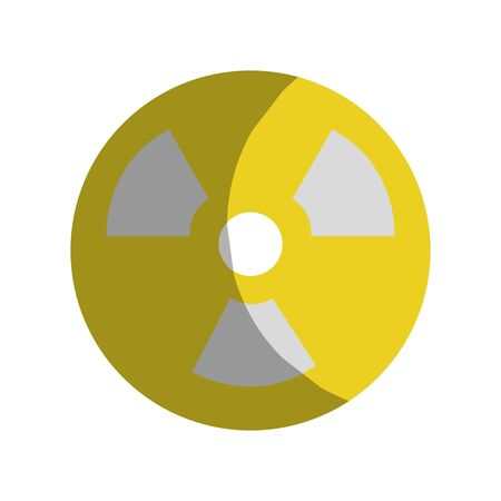 Radiation symbol to dangerous and ecology contamination