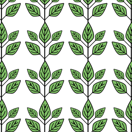 ecology plants with leaves icon background