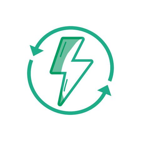 poison arrow: silhouette energy hazard symbol with arrows around vector illustration Illustration
