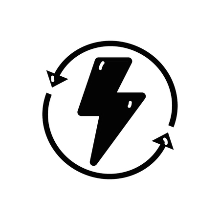 contour energy hazard symbol with arrows around Illustration