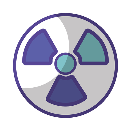 radiation symbol to dangerous and ecology contamination