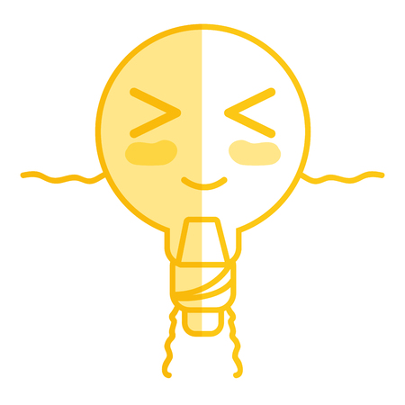 personage: silhouette kawaii cute funny bulb energy with arms