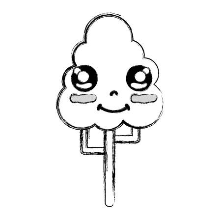 personage: figure cute happy tree ecology Illustration