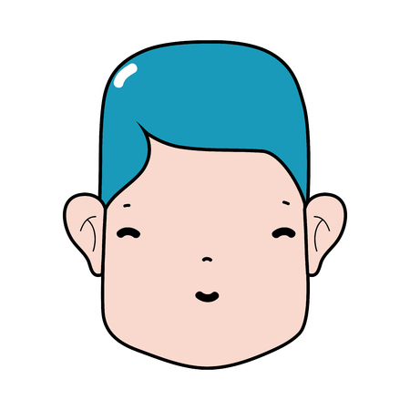 isolate: man head with face and hairstyle Illustration