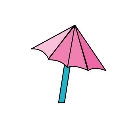 nice umbrella open to protect of sun