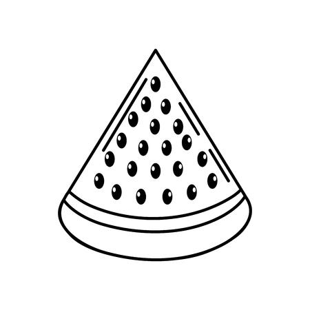 line delicios slice watermelon fruit food