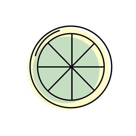 tasty lemon slice organic fruit