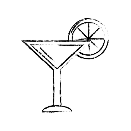 figure delicious cocktail with slice of lemon to refresh