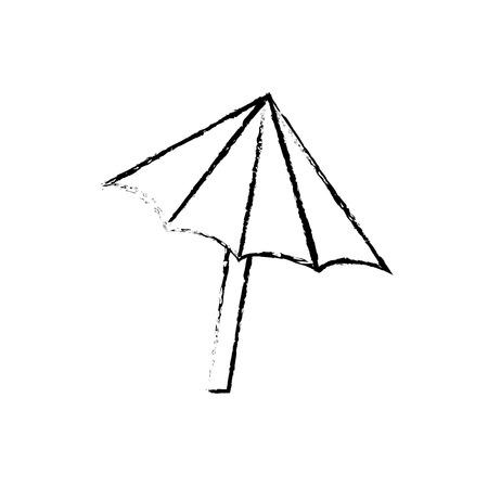 figure nice umbrella open to protect of sun vector illustration Illustration