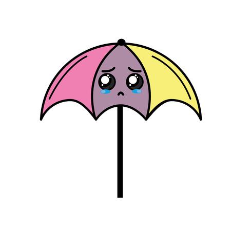 cute crying umbrella emoji Ilustrace