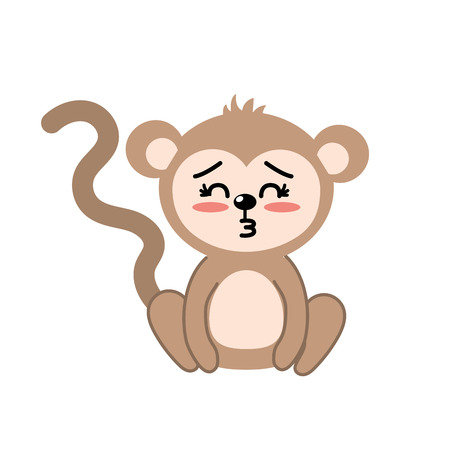 cuteness: cute monkey wild animal with face expression