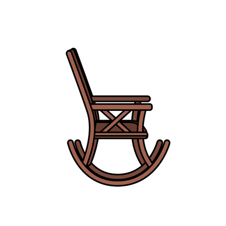 conformity: comfortable chair to relaxation object icon