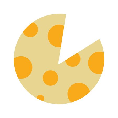 delicious slice of pizza food vector illustration