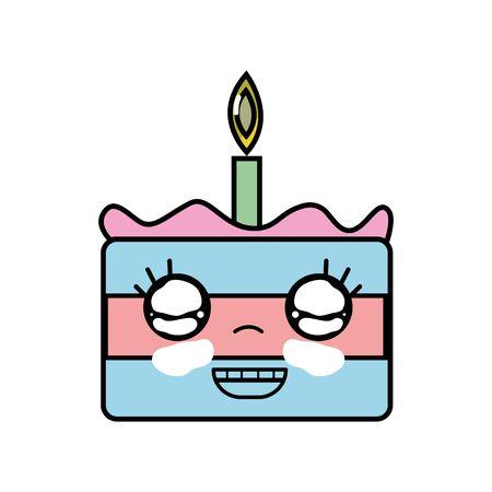 cute happy cake dessert