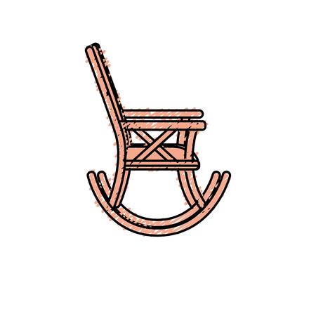 Chaise confortable à l'icône de l'objet de relaxation Banque d'images - 80452538