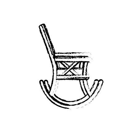 Figure chaise confortable à l'icône de l'objet de relaxation Banque d'images - 80536611