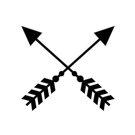 rustic arrows with ornamental design Illustration