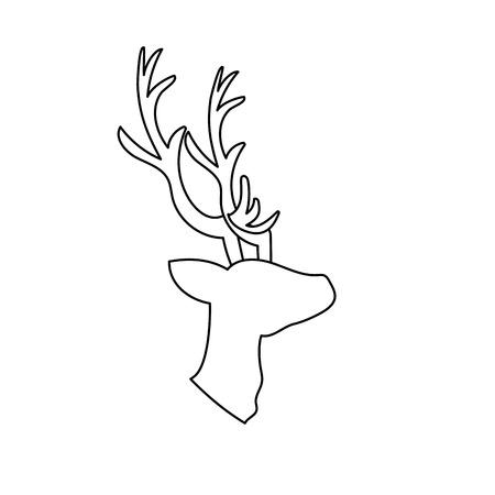 Line deer wild animal to natural reserve