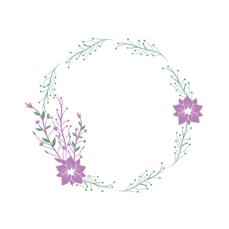 葉と枝し、花の装飾のベクトル図