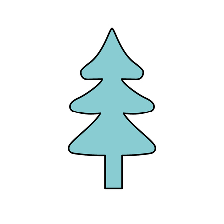 cultivated: natural pine tree to ecology reserve vector illustration