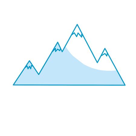 Sneeuw bergen en schoonheid landschap vector illustratie Stock Illustratie