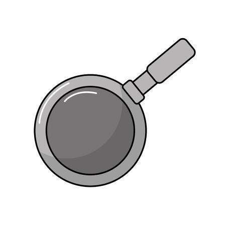 metalic: metalic skillet pan kitchen utensil vector illustration