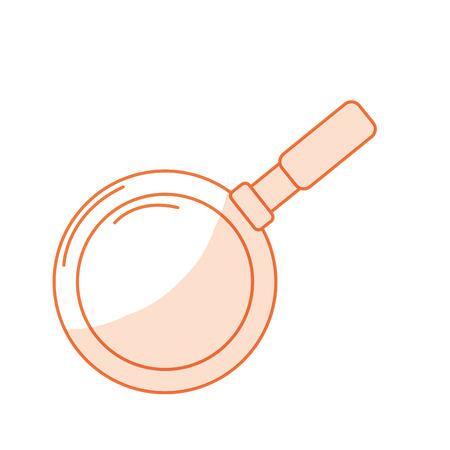 silhouette metalic skillet pan kitchen utensil vector illustration Illustration