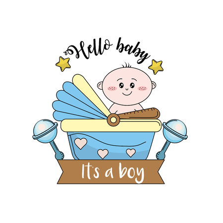 baby shower to welcome a child in the family vector illustration
